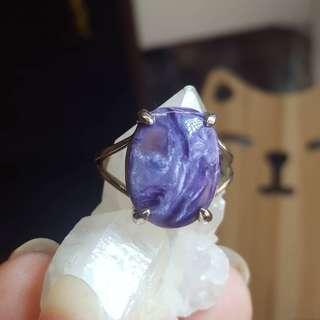 紫龍晶純銀戒指 C @天然水晶