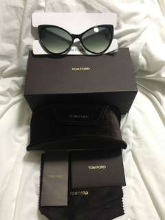 TOM FORD ANASTASIA SUNGLASSES FT0303 01B SHINY BLACK