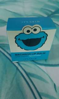 Cookie monster macaron lip balm