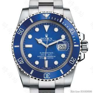 ROLEX 116619LB_BLUE SUBMARINER DATE OYSTER 40MM WHITE GOLD