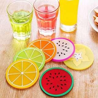 ❤️Formemory 繽紛 🌈果凍色水果造型杯墊 硅膠杯子墊 防滑 隔熱墊 杯墊