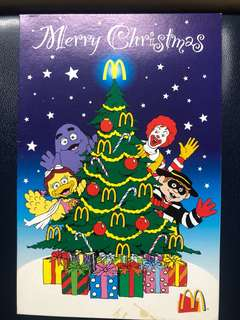 Clearing Stocks: Singapore McDonald's Christmas Card, New