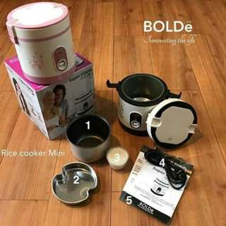 Ready Stock Super Cook Bolde 0.6 Liter Rice Cooker Mini 3 In 1