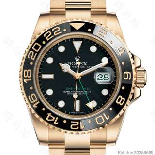 ROLEX 116718LN_BLACK GMT-MASTER II OYSTER 40MM YELLOW GOLD