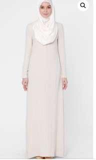 New Olloum Love To Dress Linen Dress in Cream
