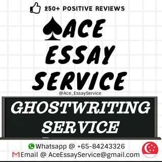 Ghostwriter 🏆🎖️🌍                                             Essay Assignment
