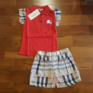 Burberry girl set merah