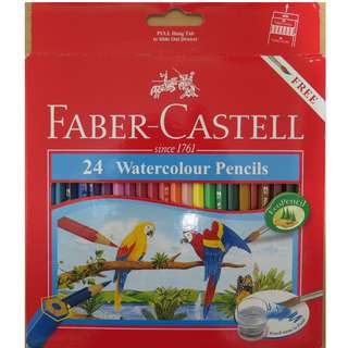 🚚 Faber-Castell 24 Watercolour Pencils