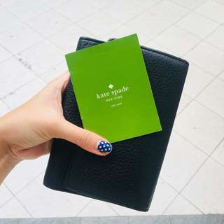 Kate Spade black trifold wallet