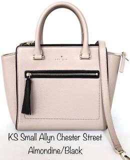 KS Small Allyn Chester Street Almondine/Black Sz 25/34x23x11cm
