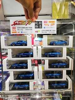 IG x Tarmac Works PANDEM Nissan GTR R35 藍色 Skyline 日產戰神 1/64 Kyosho Tomica Size