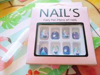 Professional Nail Care Fake Nails Kid Disney Cinderella