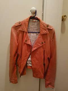 DOMA Orange Leather Jacket