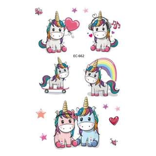 Unicorn party supplies - party tattoos