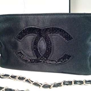 Chanel VIP Gift Black Sequin Chain Bag