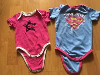 3-6 months baby girl rompers