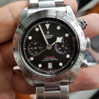 Tudor Black Bay Heritage steel fullset Chronograph