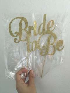 🚚 Bride To Be Cake Topper & Sash