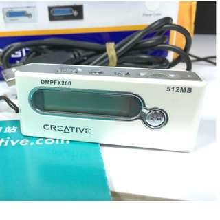 creative DMPFX200錄音、MP3播放器、廣播多媒體播放器