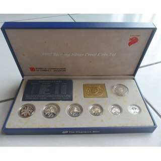 1992 Singapore Silver Proof Coin Set (1¢ - $5 Coin)