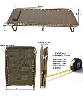 Mesh Fabric Foldable Bed Up to 150 kgs capacity