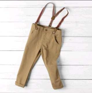 Crib couture pants with suspender 18months