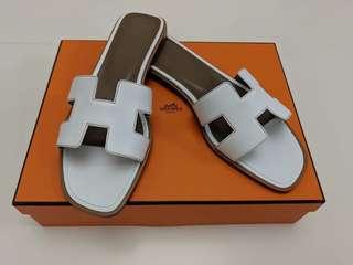 Hermes Oran Sandals 38.5