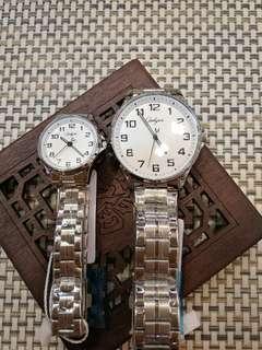 情侶對裝石英電子手錶