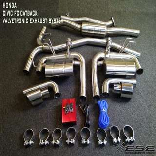 HONDA CIVIC FC CATBACK TURBO EXHAUST SYSTEM