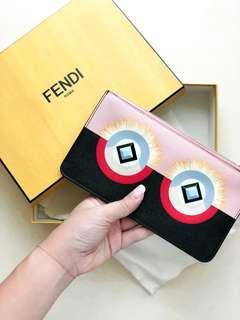 Fendi flat clutch with studs