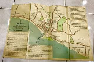 Vintage Malacca 1953 Map