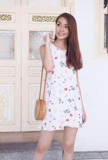 3inute Faith Floral Tank Dress In Spring Floral