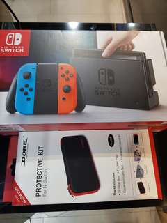Nintendo Switch Console with Protective Kit/Tempered Glass
