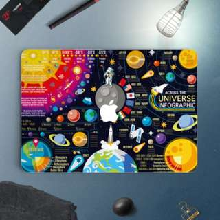 Across the Universe Infographic Macbook Vinyl Decal