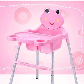 🚚 Baby kids feeding high dining chair cartoon