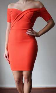 Coral dress ready to stand out