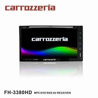 CARROZZERIA (FH-3380HD) 6.9'' MP5 DVD RDS AV RECEIVER