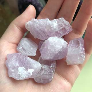 Natural Lilac Kunzite Raw Gemstones (per piece)