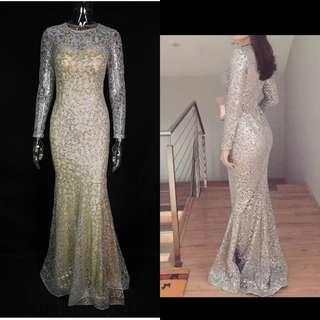 (rent) Glittered Sequin Dress L size
