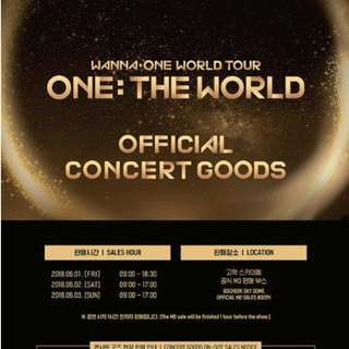 🚚 [INSTOCK] WANNA ONE ONE:THE WORLD CONCERT GOODS