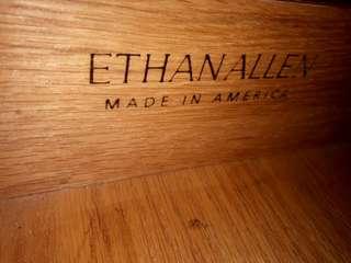 Vintage Ethan Allen Lawson Bowfront Chest