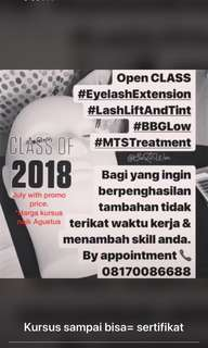 Eyelash extension private course