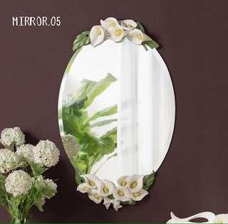 Cermin kaca mirror import mewah cantik shabbychic vintage