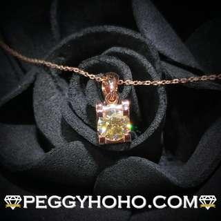 【Peggyhoho】全新18K玫瑰金設單粒52份閃爆鑽石吊墜| 卡地亞映底 |超值大睇