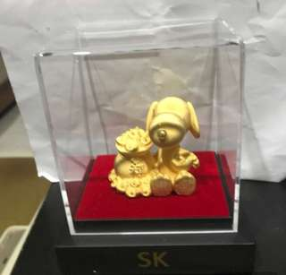 Gold plated 999 soo KEE jewellery snoopy