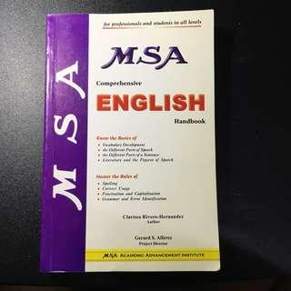 MSA Comprehensive English Handbook