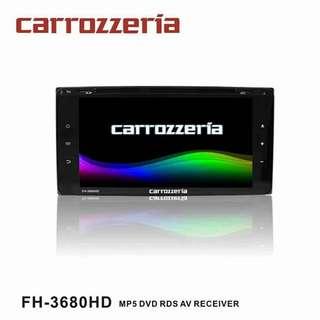 CARROZZERIA (FH-3680HD) 6.9'' MP5 DVD RDS AV RECEIVER
