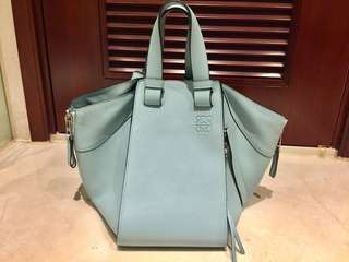 LOEWE Hammock Bag - Medium Size, Blue Color - EXCELLENT CONDITION