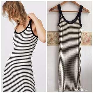 Mango Striped Bodycon dress