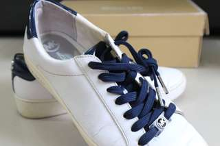 MICHAEL KORS Irving Lace Up Optic/Navy Leather (ORIGINAL | USED)